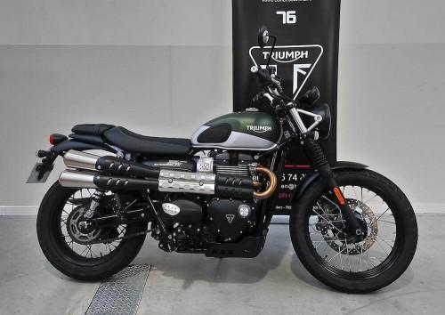 Location moto Rouen Triumph street scrambler 900