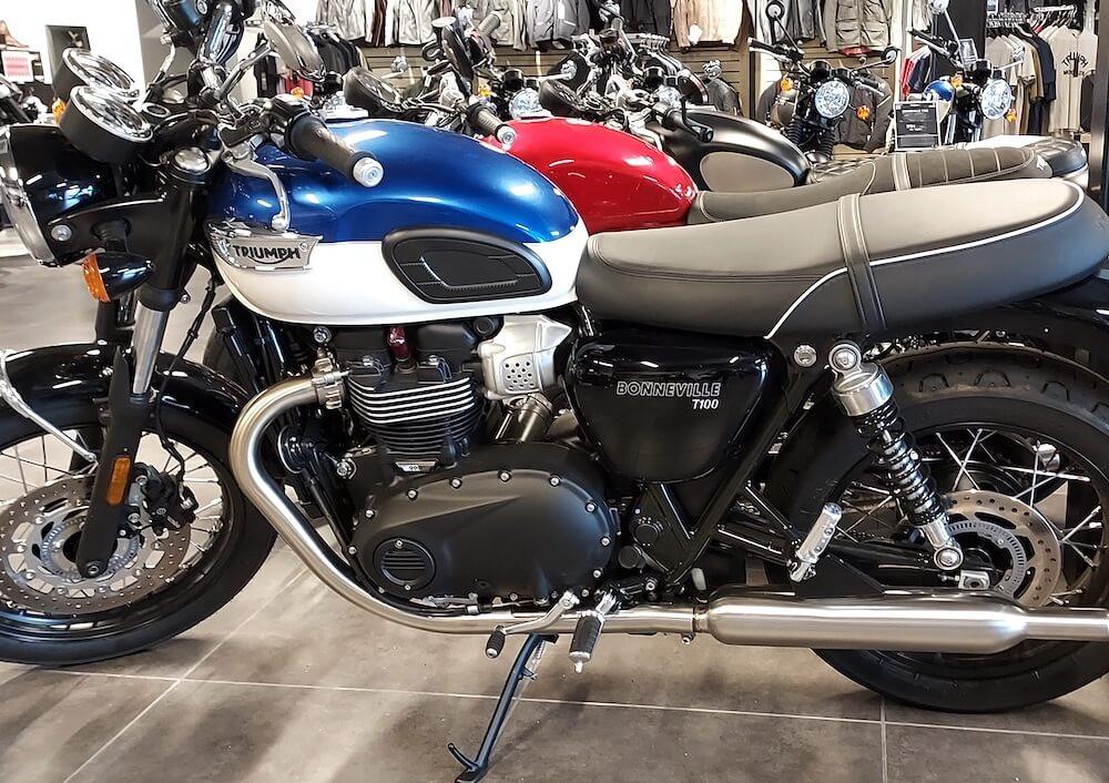 Mulhouse Triumph Bonneville T100 A2 motorcycle rental 15986