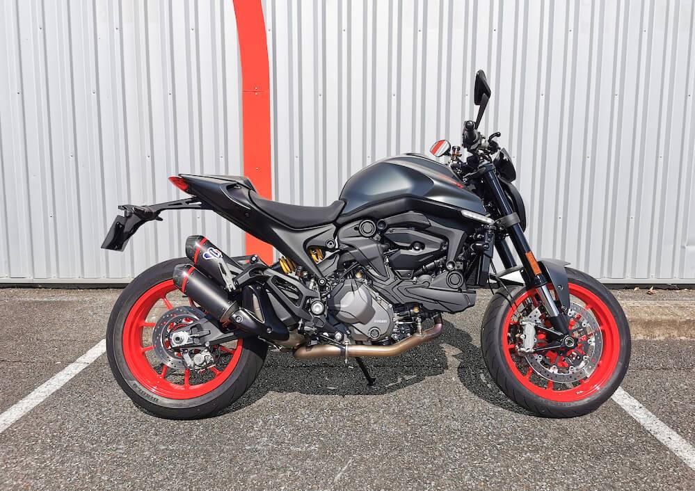 Pau Ducati Monster 937 motorcycle rental 15862