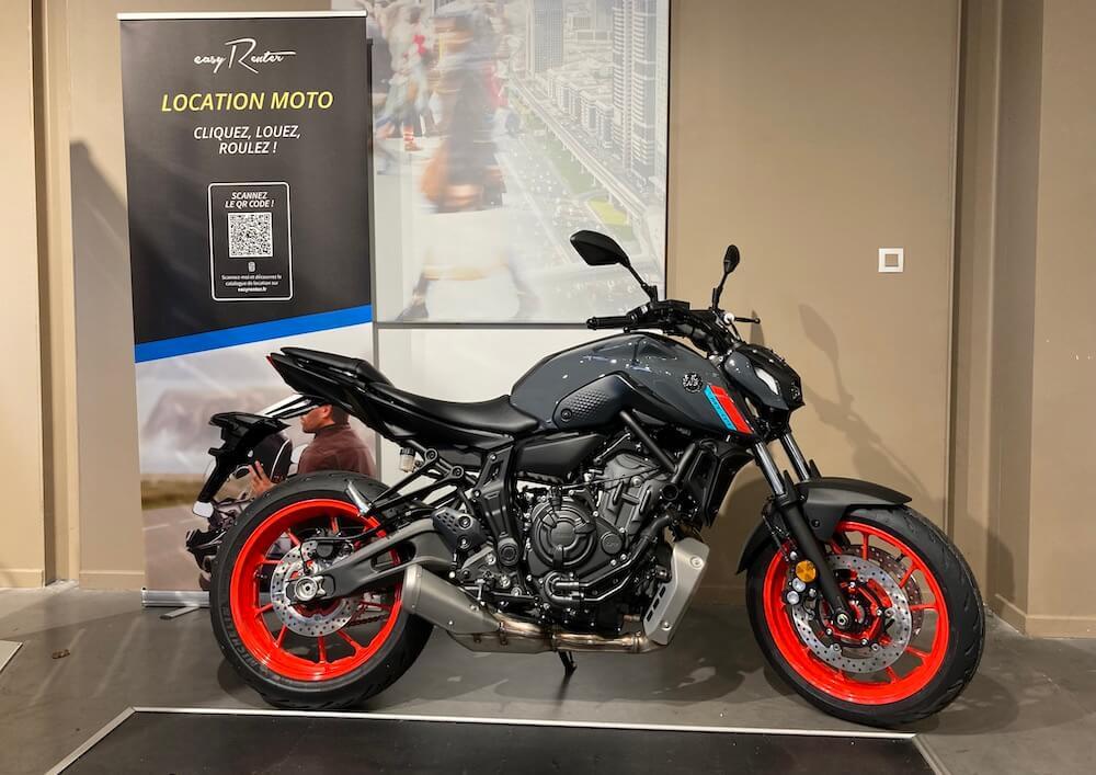 Montauban Yamaha MT07 A2 motorcycle rental 15663