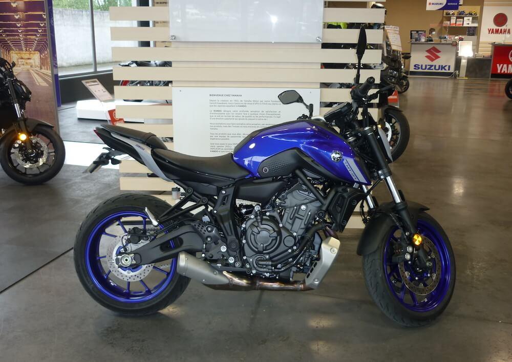 Odos Yamaha MT07 A2 motorcycle rental 14203