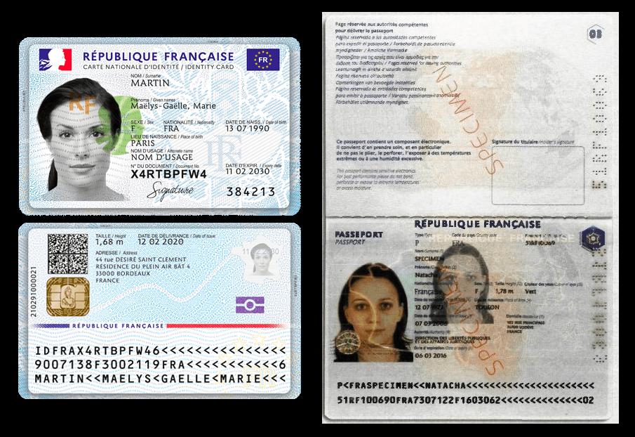 Exemple pièce d'identité